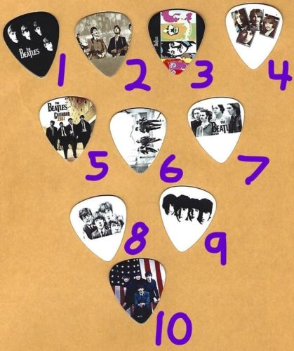 THE BEATLES Graphic Guitar Pick ~Your Choice of Many~ BUY 2, GET 3rd FREE