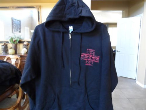 FILTER - Full Zip Up 2-Sided Black Hoodie w/ Drawstring ~BRAND NEW~ M
