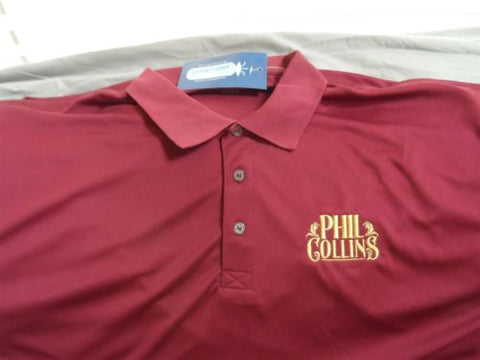 PHIL COLLINS - High quality Cool-n-Dry Polo Shirt ~Never Worn~ XL / 2XL