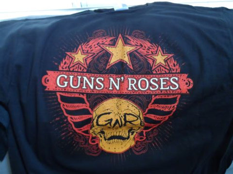 GUNS N' ROSES - 2009-2010 Chinese Democracy World Tour T-Shirt ~Never Worn~ XL