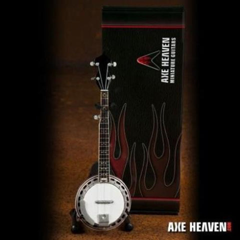 BANJO- 1:4 Scale Miniature with Rose Back ~Axe Heaven