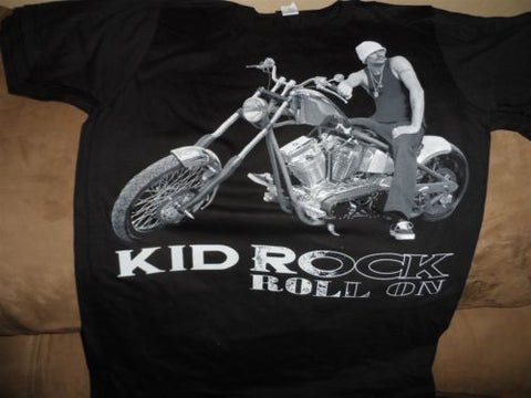 KID ROCK - Roll On T-shirt w/ tour cities ~Never Worn~ Small