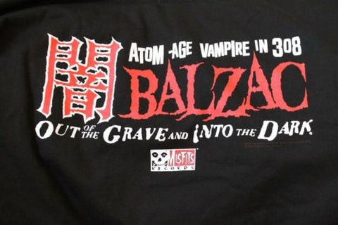 BALZAC -Out of the Grave and Into the Dark/Misfits Records T-shirt~Never Worn~XL