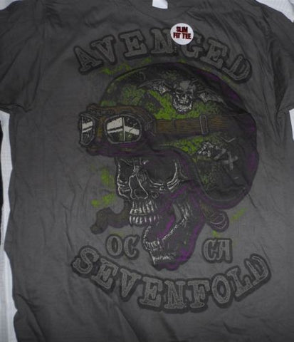 AVENGED SEVENFOLD - OC CA Skull Slim Fit T-shirt ~Never Worn~ XL ##