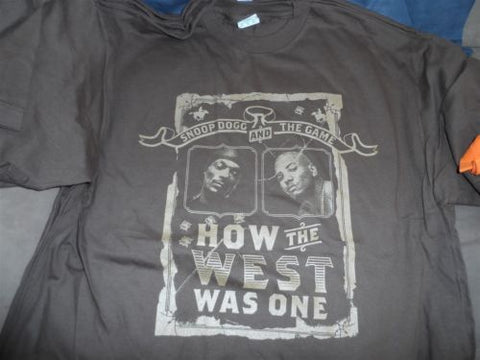 SNOOP DOGG & THE GAME - 2005 How The West Was One T-shirt ~Never Worn~ XL