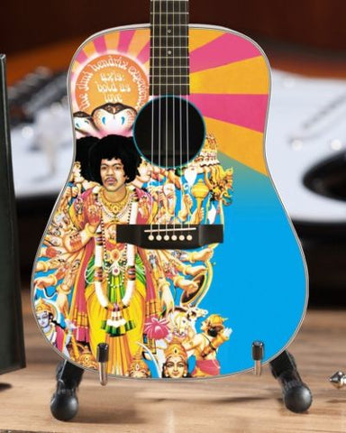 JIMI HENDRIX - Axis: Bold as Love Acoustic 1:4 Scale Replica Guitar ~Axe Heaven