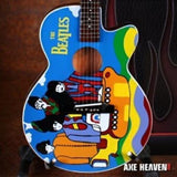 THE BEATLES - Yellow Submarine Acoustic Replica Guitar AXE HEAVEN ~Brand New