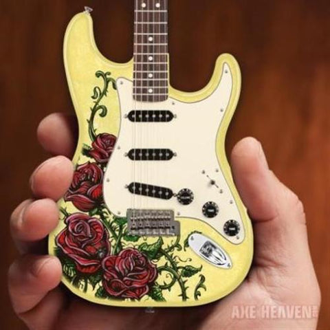 DAVID LOZEAU -Rose Tattoo Fender Strat 1:4 Scale Replica Guitar ~Axe Heaven