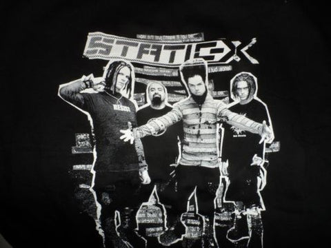 "STATIC-X - ""Destroy All"" T-Shirt ~NEVER WORN~ MEDIUM"