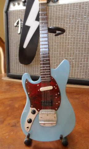 Fender Mustang Sonic Blue 1:4 Scale Replica Guitar ~Axe Heaven