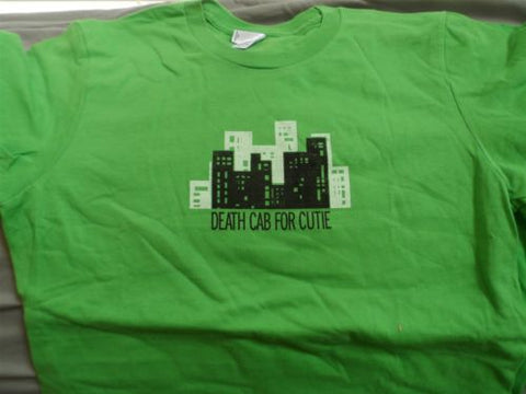 DEATH CAB FOR CUTIE -Buildings Green American Apparel Jrs T-Shirt ~Never Worn~ L