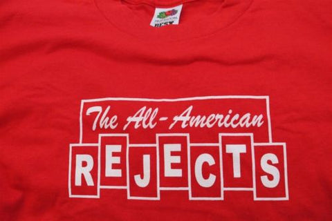 THE ALL-AMERICAN REJECTS - Red T-shirt ~Never Worn~ Large ##