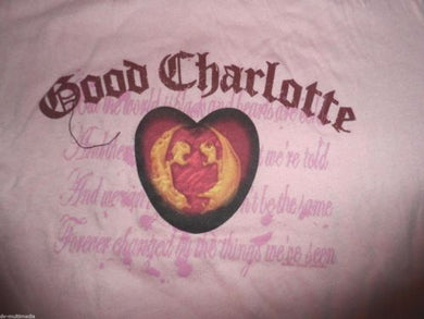 GOOD CHARLOTTE - The World is Black Baby Doll T-Shirt ~Never Worn~ FREE SHIP L