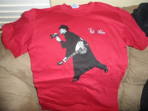PHIL COLLINS- 2004 Red First Final Farewell Tour T-Shirt ~Never Worn~ S