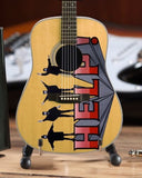 THE BEATLES - Help! Acoustic Radio Days 1:4 Scale Replica Guitar ~Axe Heaven~