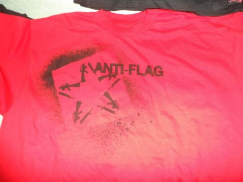 ANTI-FLAG - Red Guns/Star Logo T-Shirt ~Never Worn~ XL