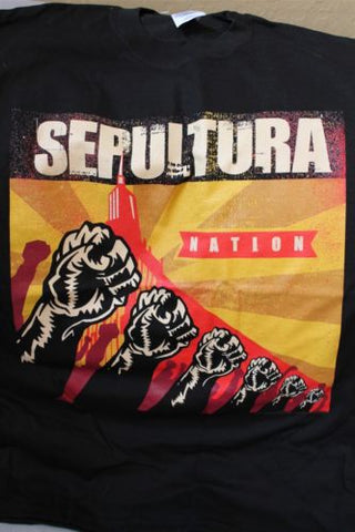 SEPULTURA - Nation 2-sided T-Shirt ~NEVER WORN~ Med / Large