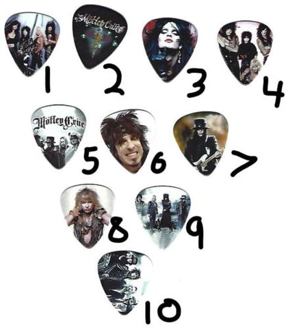 MOTLEY CRUE Graphic Guitar Pick ~Your Choice of Many~ BUY 2, GET 3rd FREE