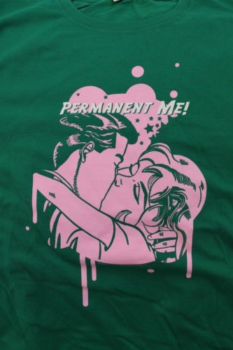 PERMANENT ME! - Two sided Green T-shirt ~Never Worn~ L ##