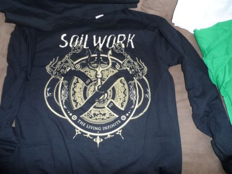 SOILWORK-2013 The Living Infinite Tour Long Sleeve T-Shirt w/ dates~Never Worn~L