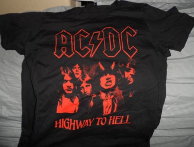 AC/DC - Distressed Highway To Hell women's t-shirt Large