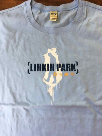 LINKIN PARK - Spray Man Light Blue Women's T-shirt ~Never Worn~ XL