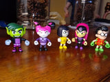 "Teen Titans GO! 2"" Mini Figure Mystery Bag Set of 4 sealed bags ~Series 3"