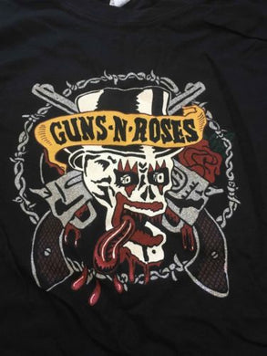 Guns-N-Roses Was Here Baby Doll Slim Fit T-Shirt ~New~ **FREE SHIPPING** JrXL