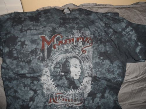 BOB MARLEY - 1976 Amsterdam All-Over Print T-Shirt ~Never Worn~ 2XL