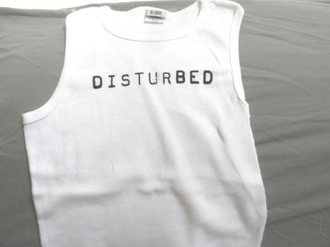 DISTURBED - Ribbed-White Tank Top ~Never Worn~ OSFA