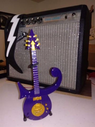 "PRINCE - ""Purple Symbol"" 1:4 Scale Replica Guitar ~Axe Heaven~"