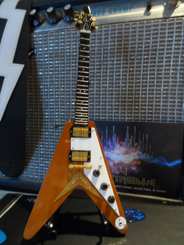 GIBSON 1958 Korina Flying V 1:4 Scale Replica Guitar ~Axe Heaven~