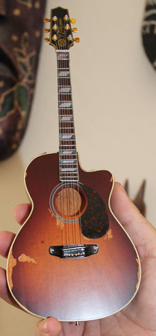 TOBY KEITH - Signature Distressed Acoustic 1:4 Replica Guitar ~Axe Heaven~