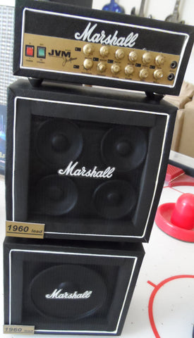 MARSHALL MINIATURE FULL STACK Guitar Amplifier - 1:4 Scale Replica ~Axe Heaven~