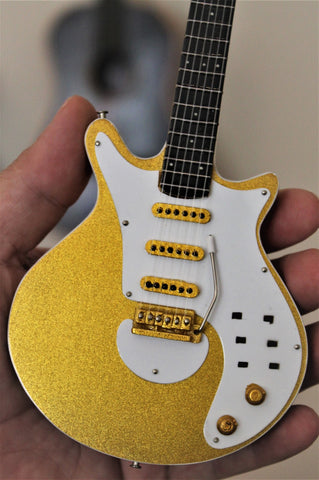 BRIAN MAY (Queen) - Burns Gold Signature 1:4 Scale Replica Guitar ~New~