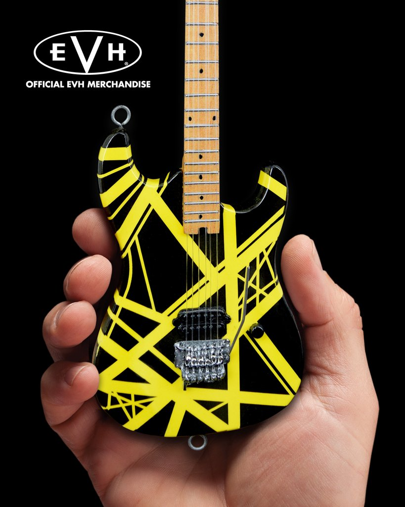 EDDIE VAN HALEN - Black & Yellow Bumblebee 1:4 Scale Replica Guitar ~Axe Heaven~