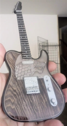 Game of Thrones House Stark Inspired Custom 1:4 Scale Replica Guitar ~New~