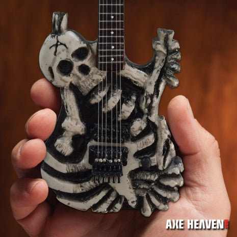 GEORGE LYNCH (Dokken) -Skull & Bones J.Frog 1:4 scale replica guitar ~Axe Heaven