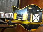 JAMES HETFIELD - Signature Distressed Maltese Cross 1:4 Scale Guitar ~Axe Heaven