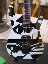 Load image into Gallery viewer, JOHN PETRUCCI - Ibanez Black & White Picasso 1:4 Scale Replica Guitar ~Axe Heaven