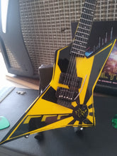 Load image into Gallery viewer, OZ FOX - Yellow and Black Eclipse 1:4 Replica Guitar ~New~