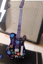Load image into Gallery viewer, PRINCE - Floral Purple Telecaster Guitar 1:4 Scale Replica Guitar ~New~
