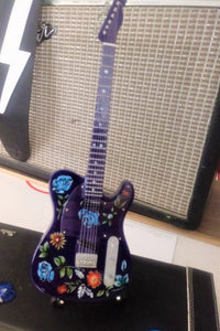 PRINCE - Floral Purple Telecaster Guitar 1:4 Scale Replica Guitar ~New~