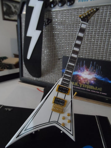 RANDY RHOADS- White Flying V 1:4 Scale Replica Guitar ~Axe Heaven~