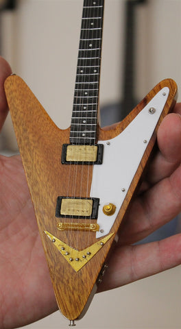 REVERSE FLYING V Limited Edition Custom 1:4 Scale Replica Guitar ~New~