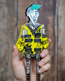 RICK NIELSEN (Cheap Trick) - Uncle Dick doubleneck/leg Replica Guitar~Axe Heaven