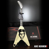 RICK NIELSEN- Yellow Checker Flying V 1:4 Scale Replica Guitar ~Axe Heaven~