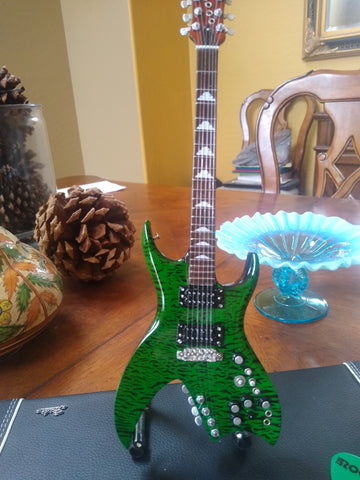 B.C. Rich Signature Green Bitch 1:4 Scale Replica Guitar ~Axe Heaven~
