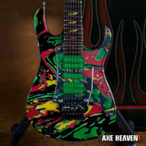 STEVE VAI Signature Universe Swirl 7 String 1:4 Scale Replica Guitar ~Axe Heaven