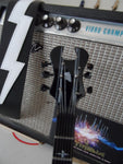 SYNYSTER GATES - Schecter Syn Black/White Signature 1:4 Scale Replica Guitar~New
